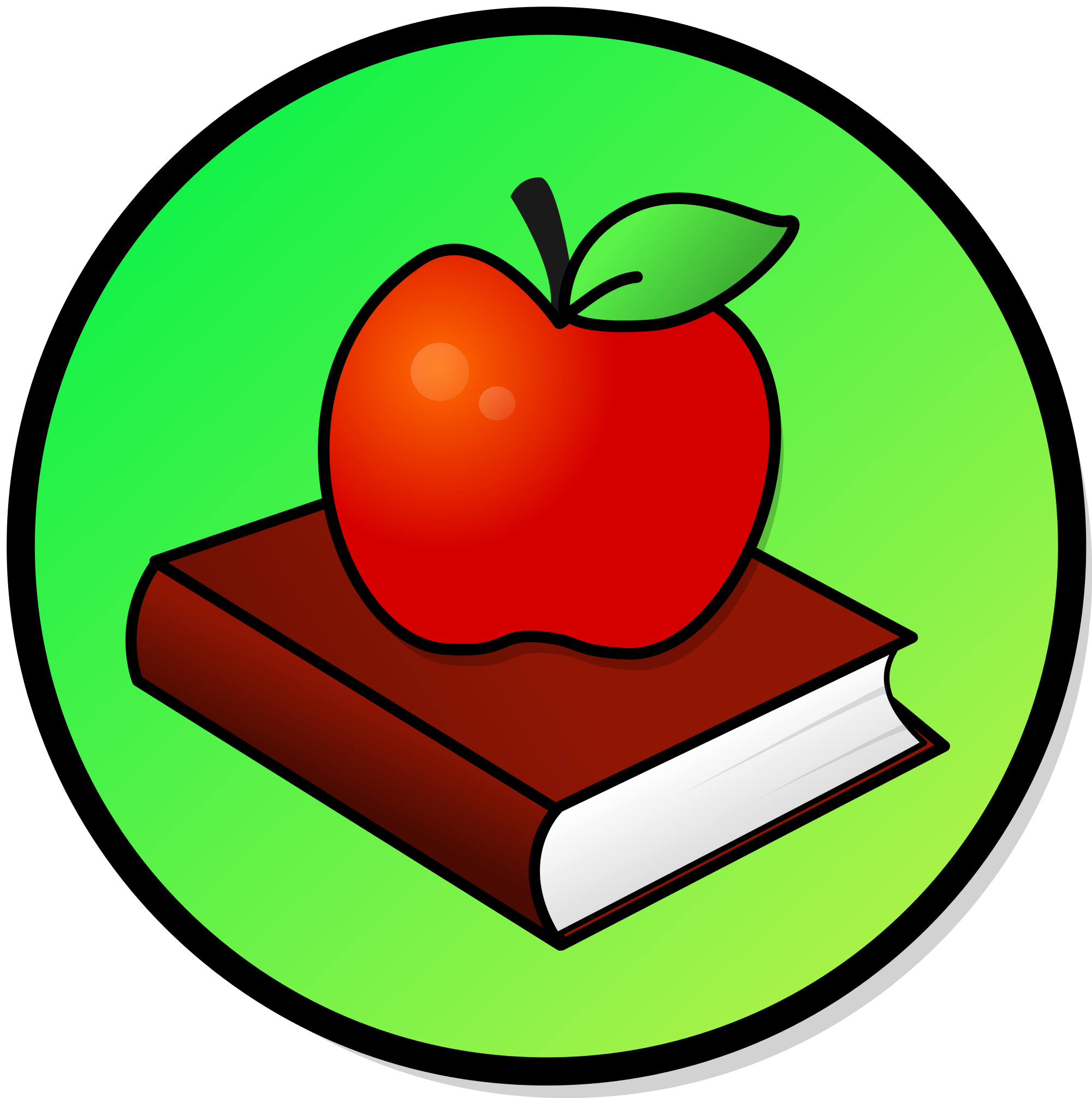 Apple And Book PNG - 170891