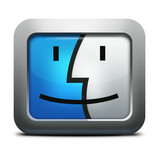 apple, face, finder, mac os x, mettalic icon. Download PNG - Mac Os X PNG