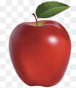Apple HD Chart, Green Leaves, Vector Diagram, Red PNG Image - Apple HD PNG
