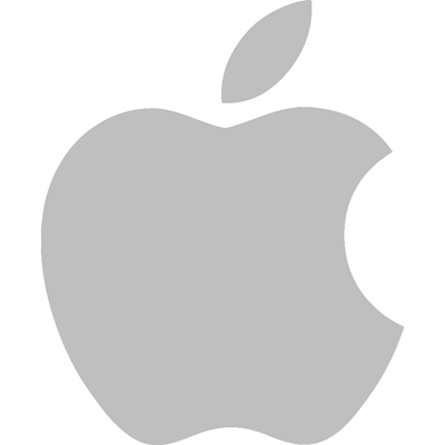 Apple Logo Grey - Apple Ios Logo PNG
