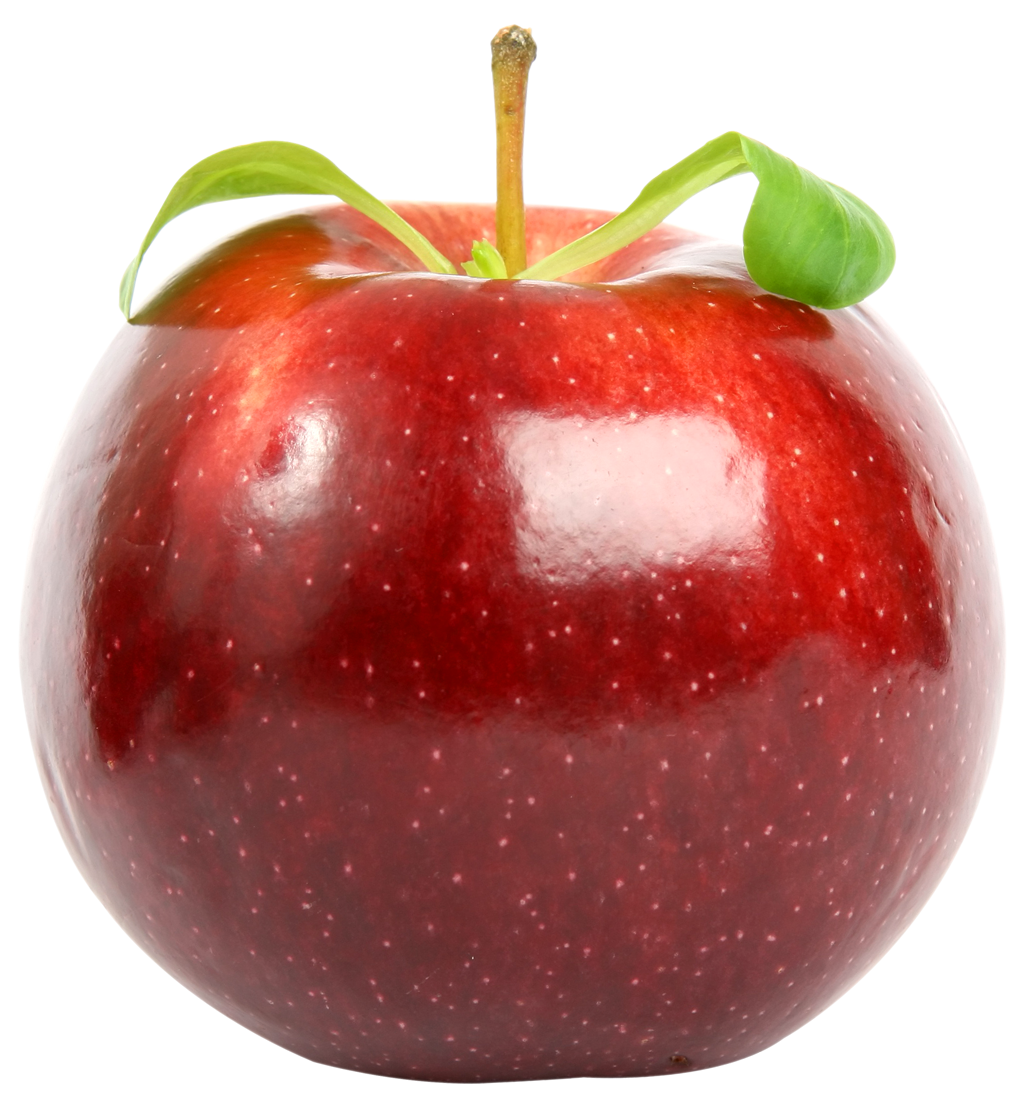 Red Apple with Leaf PNG image - Apple PNG