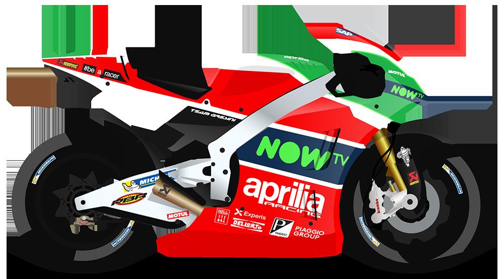 Aprilia Racing Team Gresini - Aprilia Motor Vector PNG