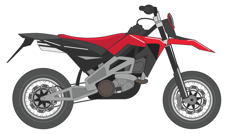 Aprilia SXV 550 Vector Motorcycle - Aprilia Motor Vector PNG