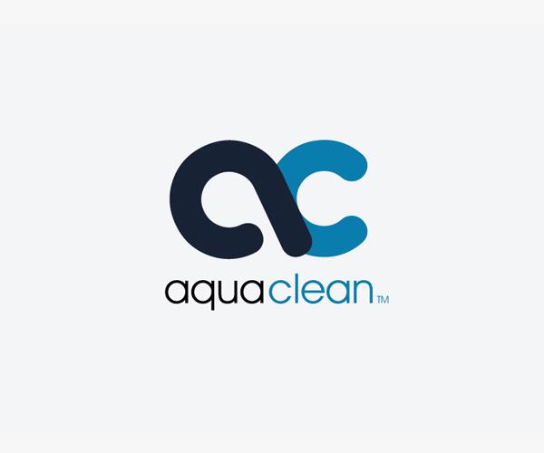 AC-letter-logo---aqua-clean-logo-design - Aqua Cleaning Logo Vector PNG