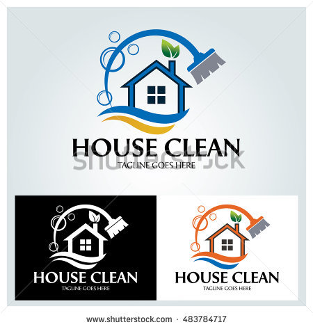 House Clean logo design template ,Vector illustration - Aqua Cleaning Logo Vector PNG