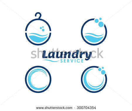 Laundry and dry cleaning icons - Aqua Cleaning Logo Vector PNG