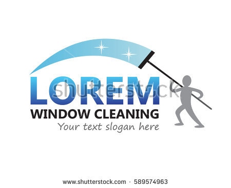Window Cleaning Logo Vector Template - Aqua Cleaning Logo Vector PNG