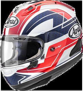 Arai RX-7V - Curve Red - Arai Helmets PNG