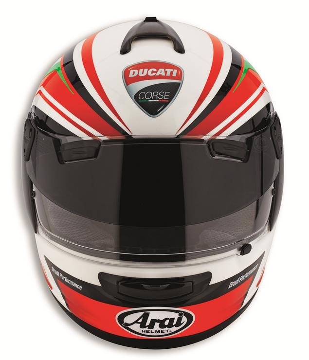 Ducati Corse Arai Helmet SBK 2 fullface PlusPng.com  - Arai Helmets PNG