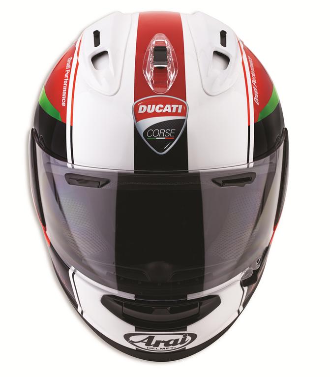 . PlusPng.com Ducati Corse helmet red arrow Arai fullface PlusPng.com  - Arai Helmets PNG