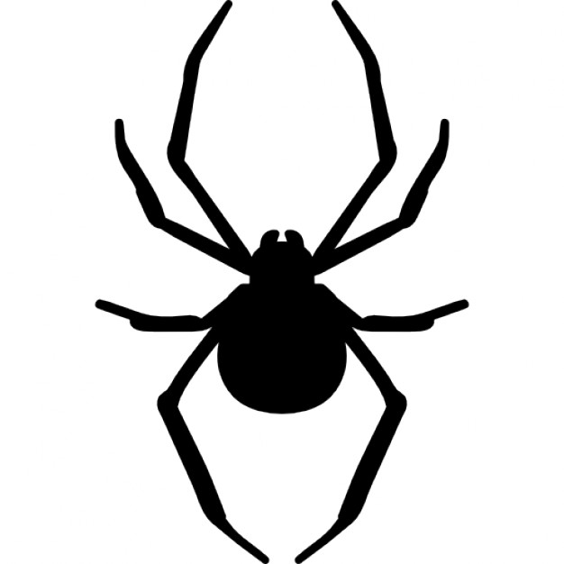 Spider arthropod animal silhouette Free Icon - Aranha Vector PNG