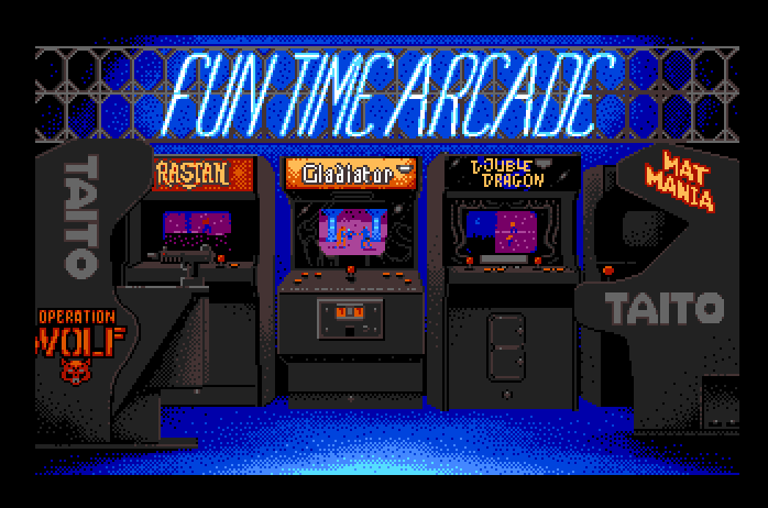 Arkanoid Apple IIgs Screenshot: Taito Fun Time Arcade. - Arcade Fun PNG