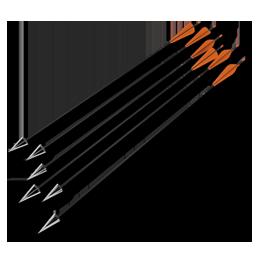 Arrows compound standard orange 256 - Archery Bow And Arrow PNG