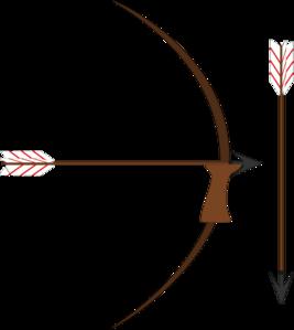 Bow And Arrow Clip Art - Archery Bow And Arrow PNG