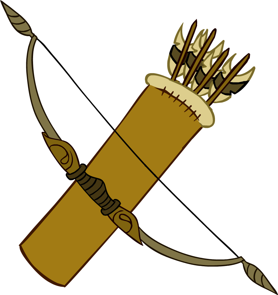 Bow and Arrows.png - Archery Bow And Arrow PNG