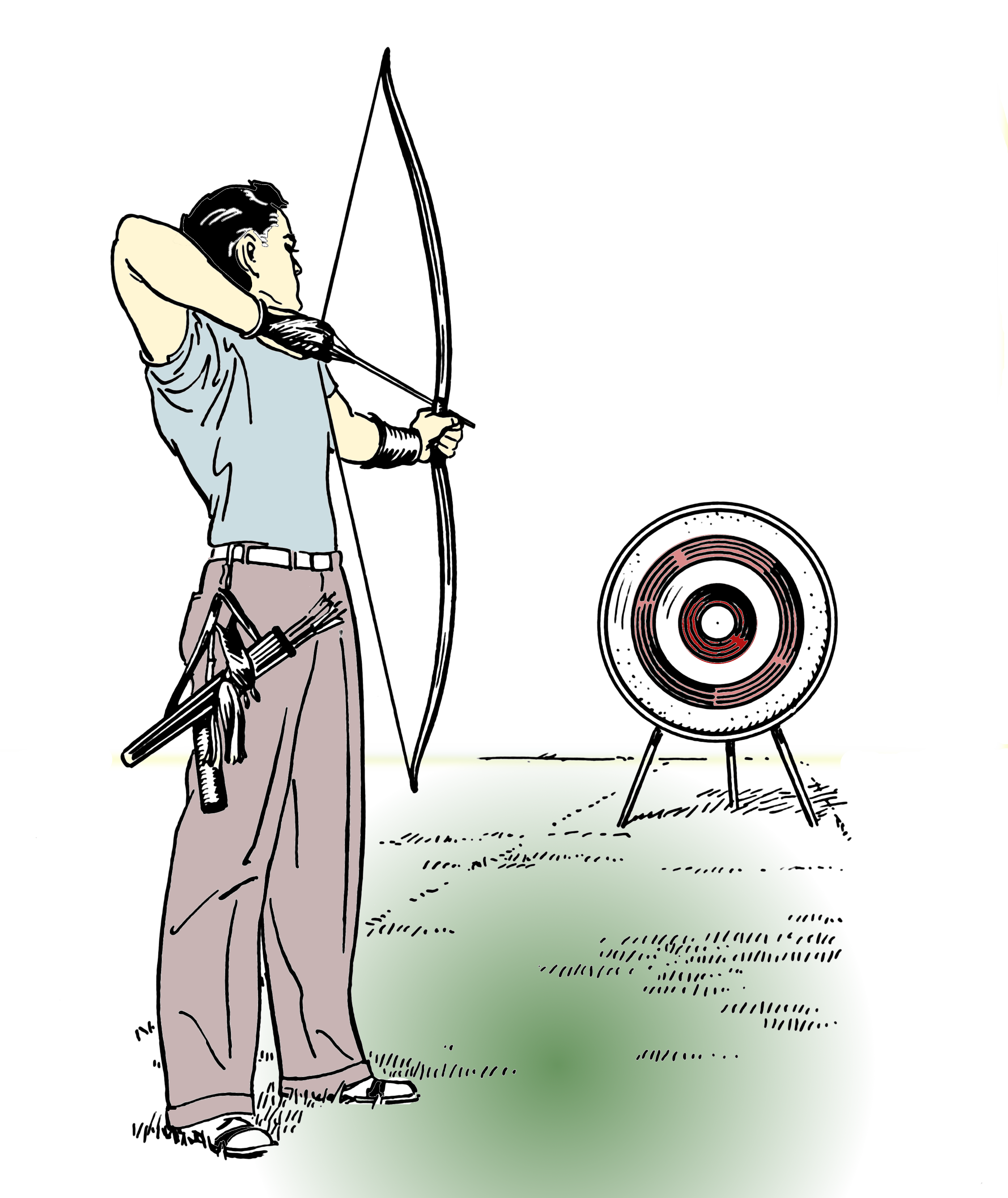 File:Archery (PSF) colored.png - Archery PNG HD