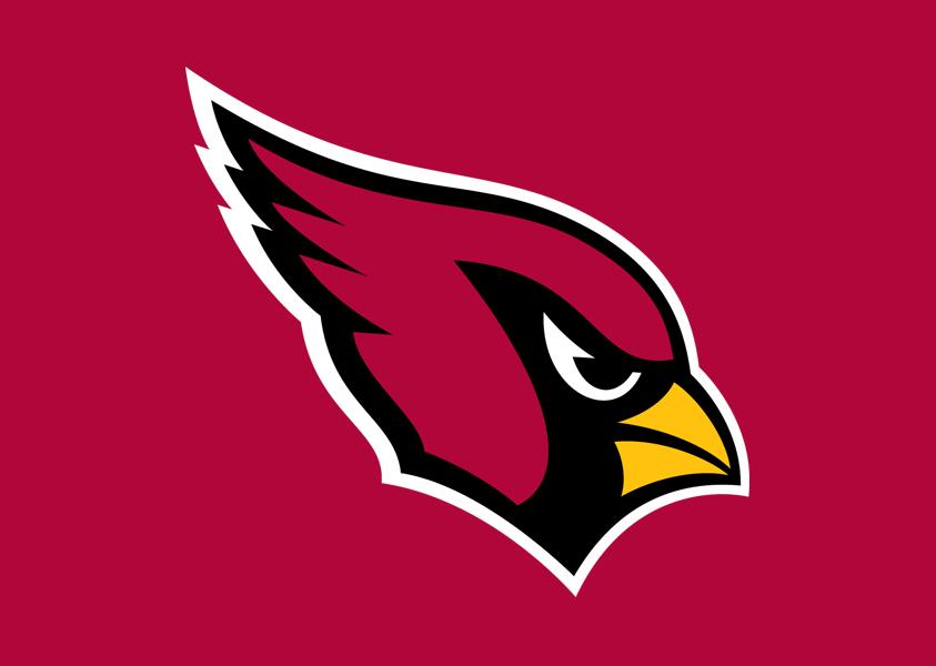 Arizona Cardinals logo on red - Arizona Cardinals Logo PNG