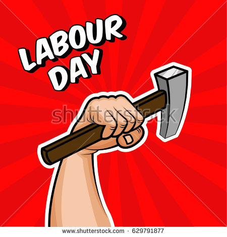 Strong arm holding a hammer, Factory worker, handyman, builder. Concept in  Soviet - Arm And Hammer Vector PNG