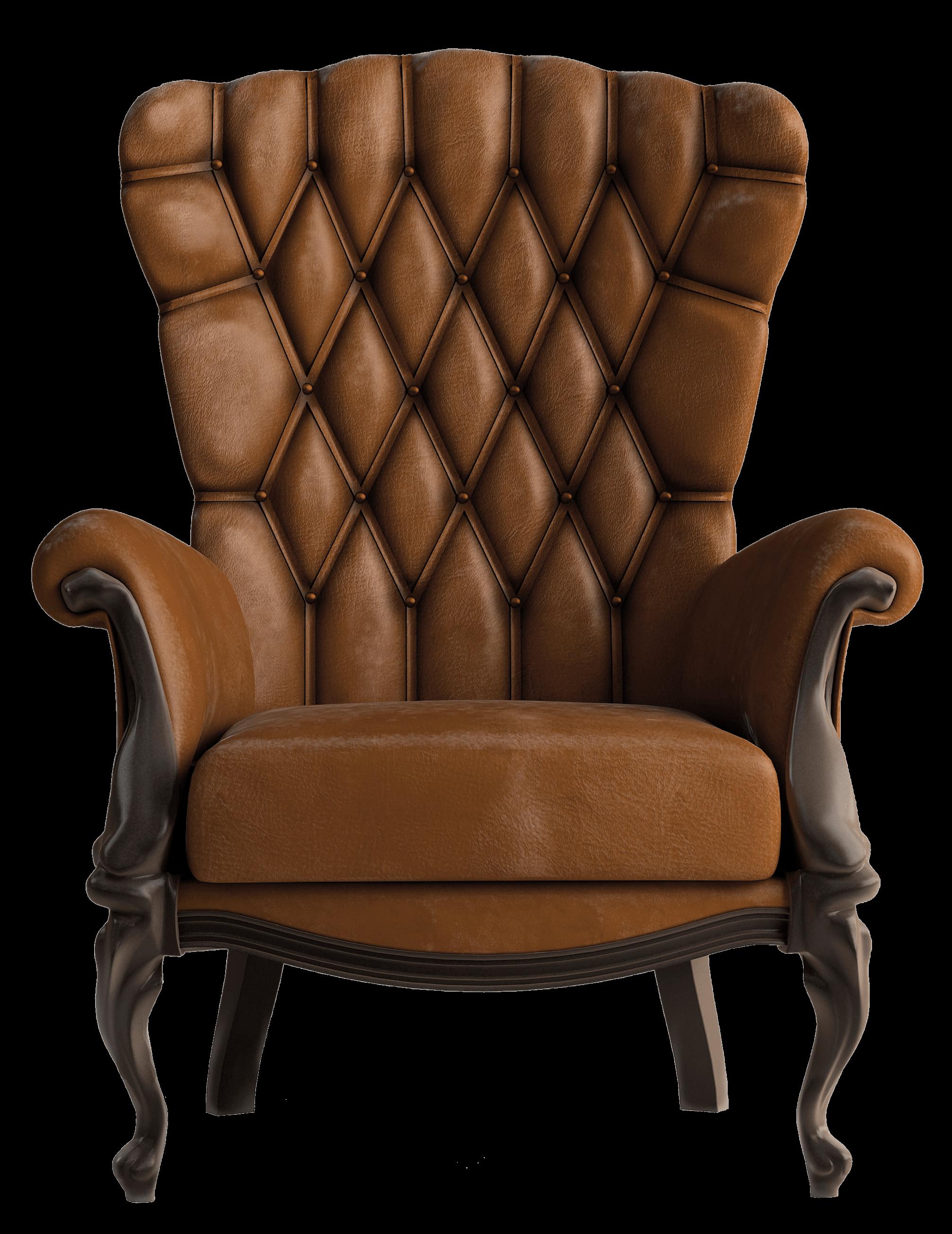 Armchair Vintage Brown - Armchair PNG