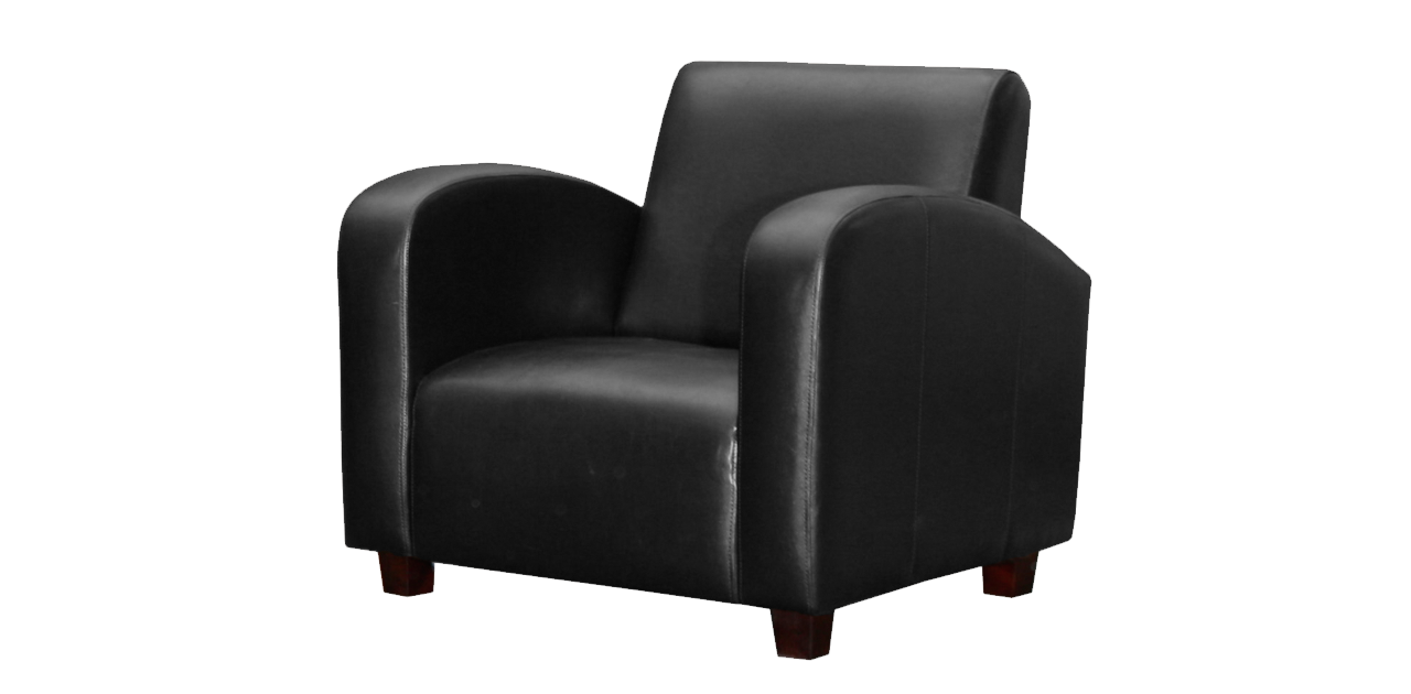 Black armchair PNG image - Armchair PNG