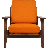 Orange Armchair Png Image PNG Image - Armchair PNG