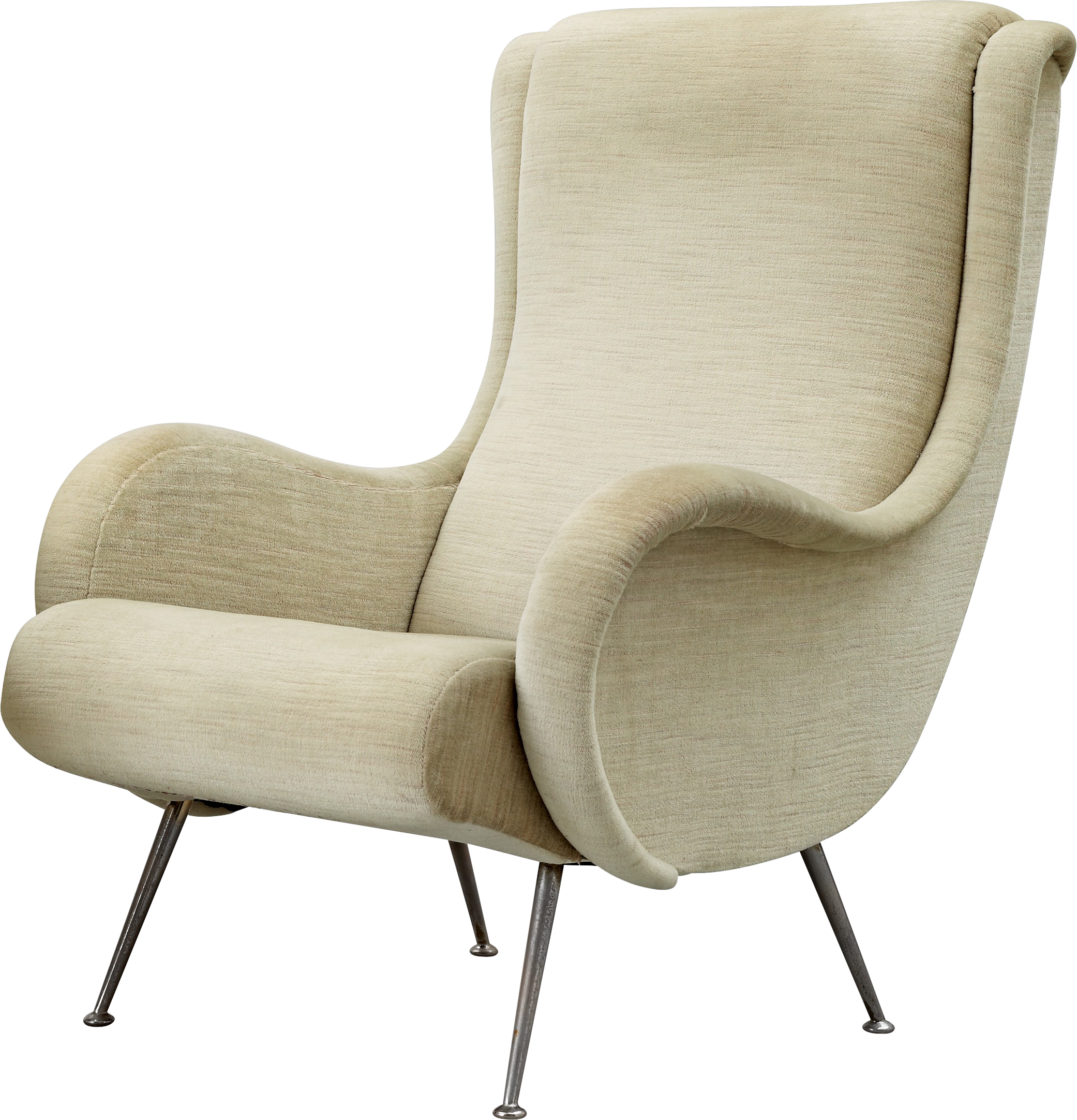 White armchair PNG image - Armchair PNG