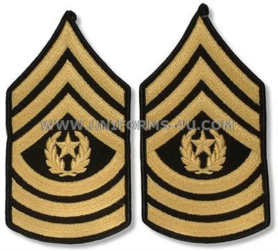 Army Csm Rank PNG - 133338