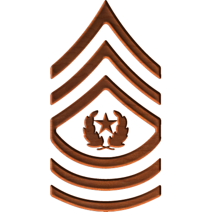 Army Rank E9 Command Sergeant Major - Army Csm Rank PNG