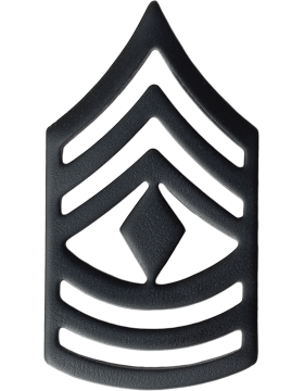 Black Metal Rank BM-109 First Sergeant (E-8) - Army Csm Rank PNG