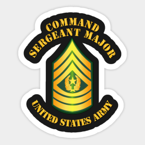 Enlisted - CSM - Command Sergeant Major Sticker - Army Csm Rank PNG