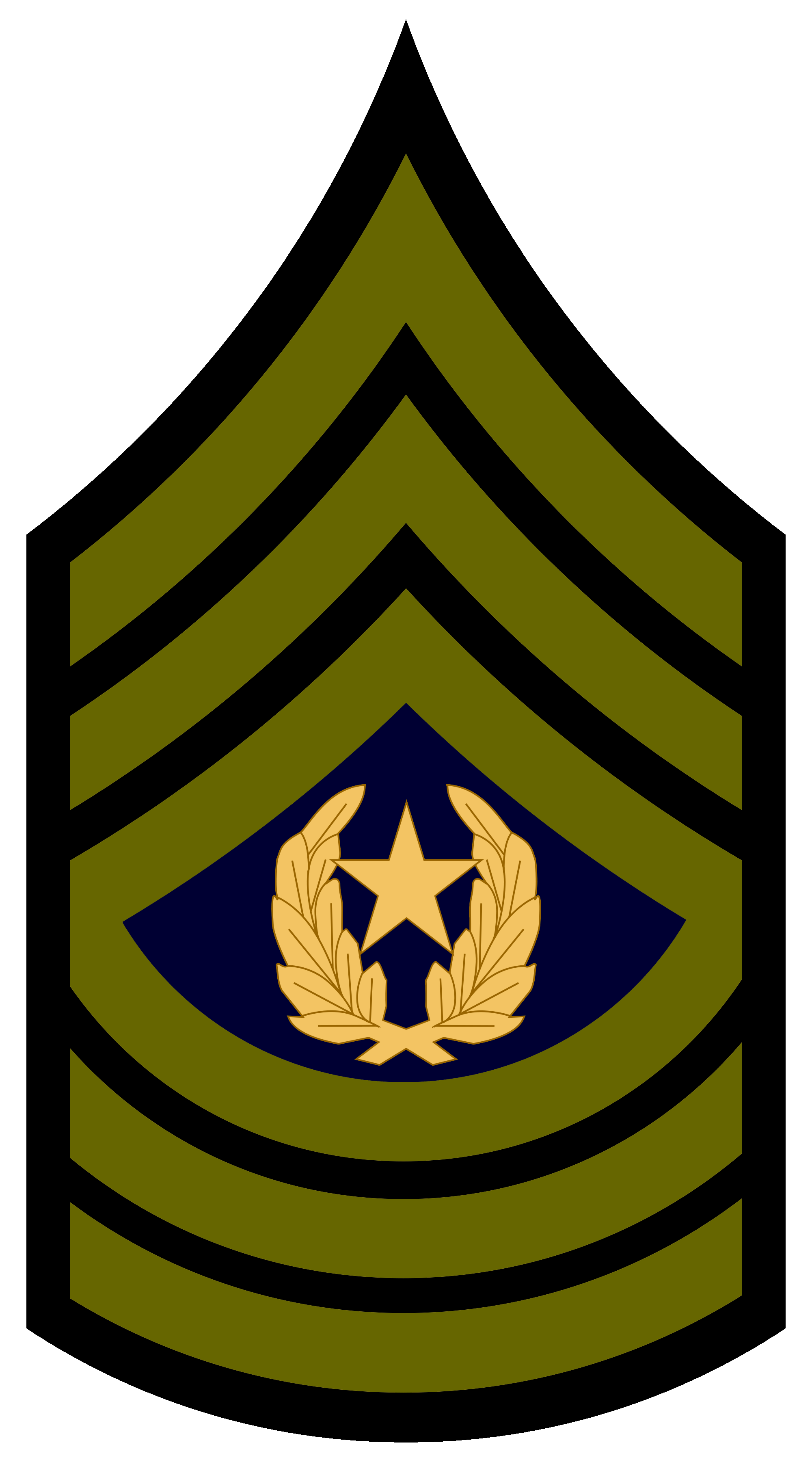 . PlusPng.com Military Rank Insignia Sergeant Subdued; UNSC A Command Sergeant  Majorpng PlusPng.com  - Army Csm Rank PNG