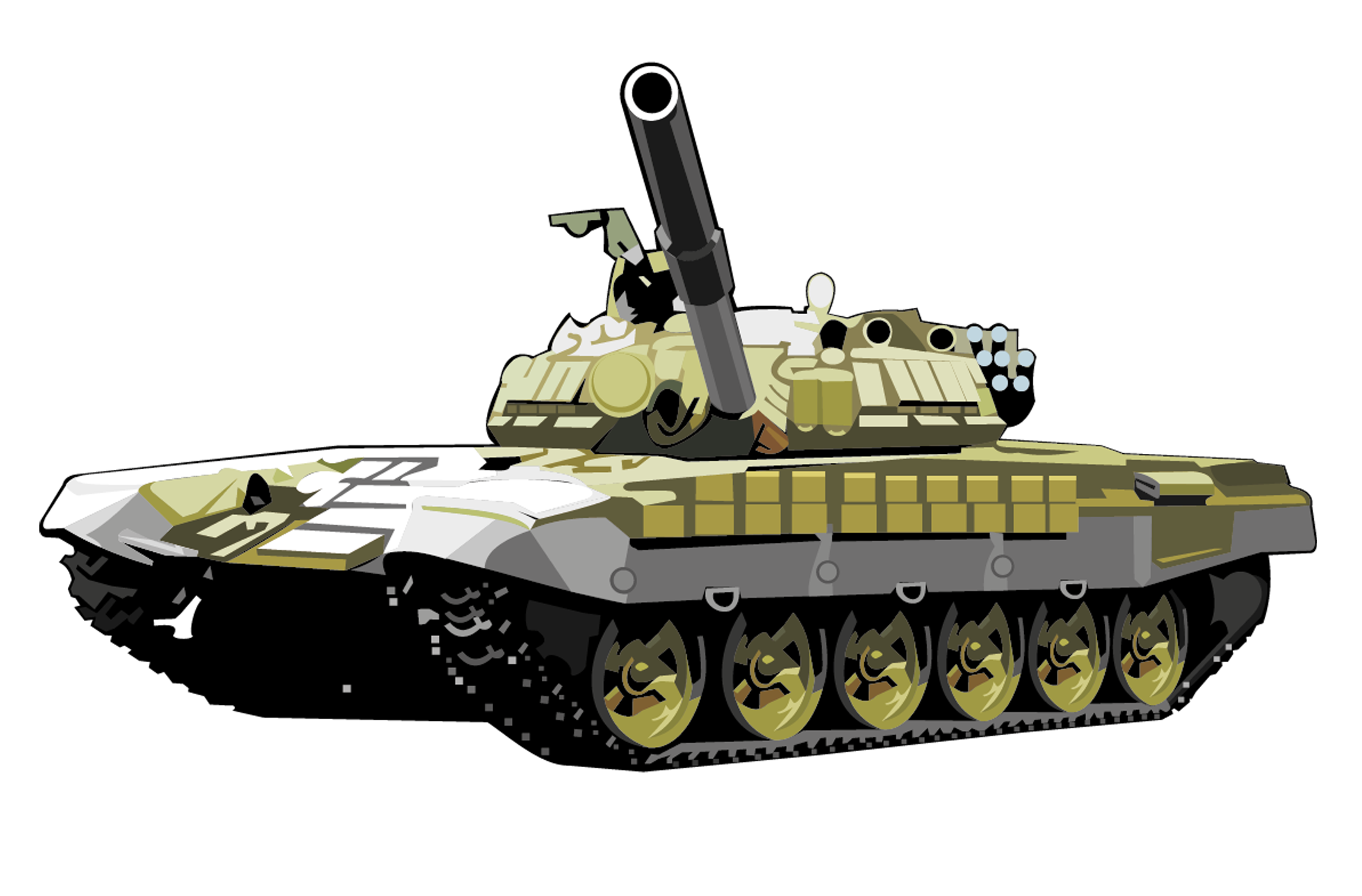 T72 tank PNG image, armored tank - Army Tank PNG
