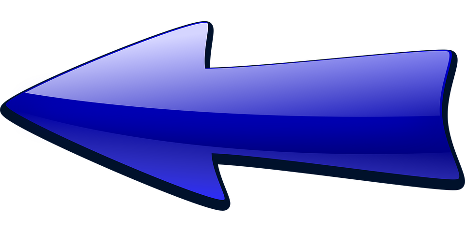 Arrow, Arrow Pointing Left, Blue, Bullet, Left - Arrow HD PNG