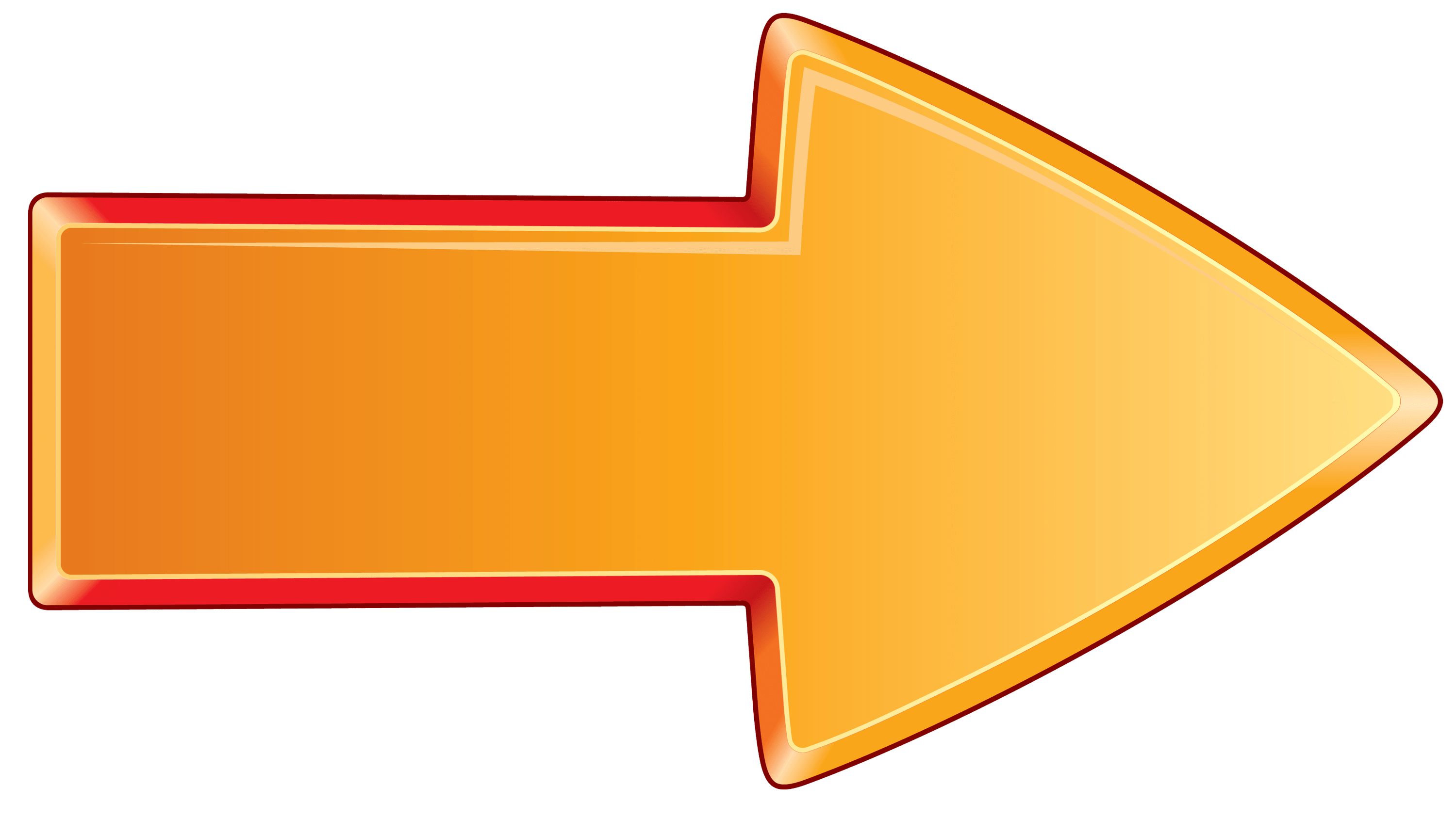 Arrow Bold Orange Right - Arrow PNG