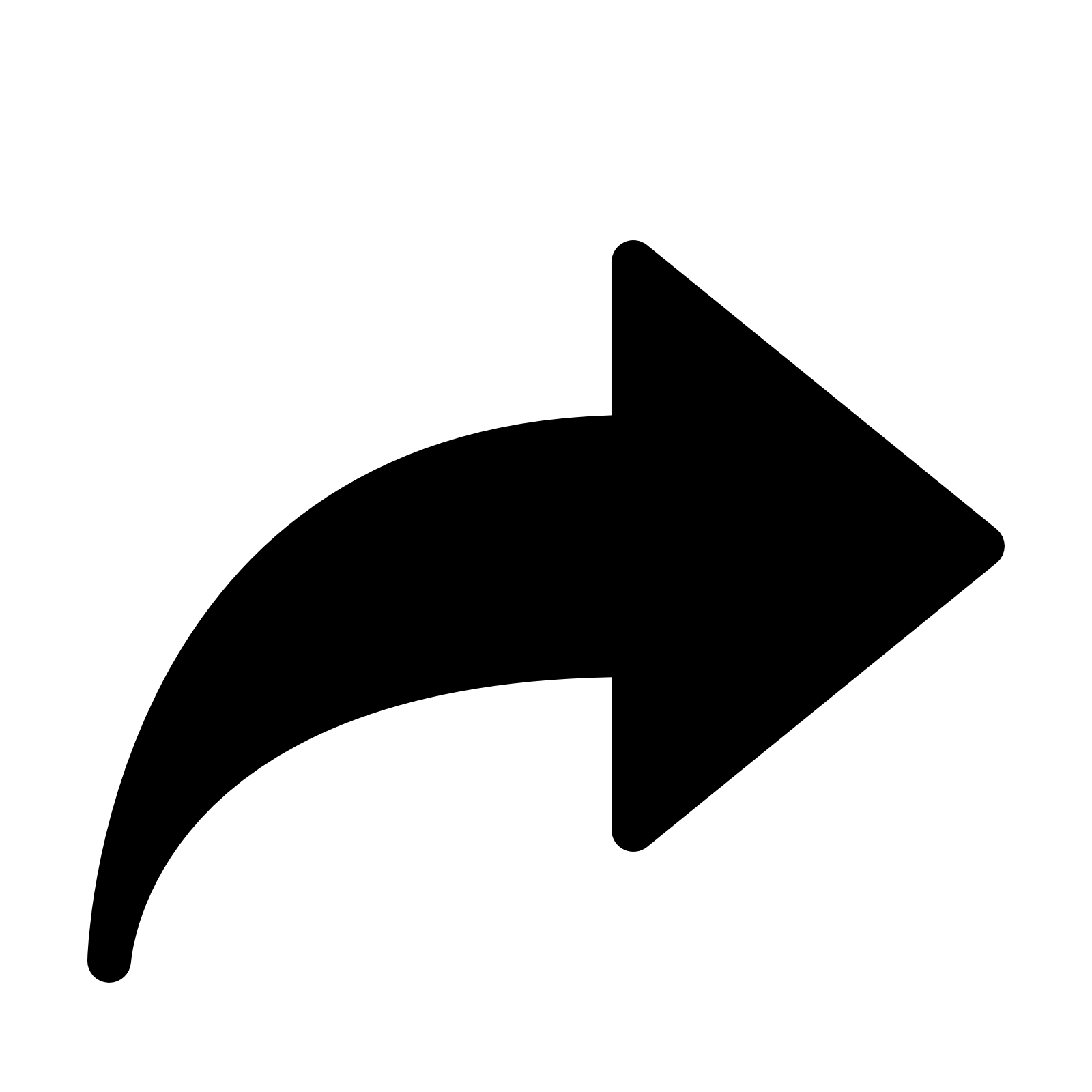 Forward Arrow Filled Icon - Arrow PNG