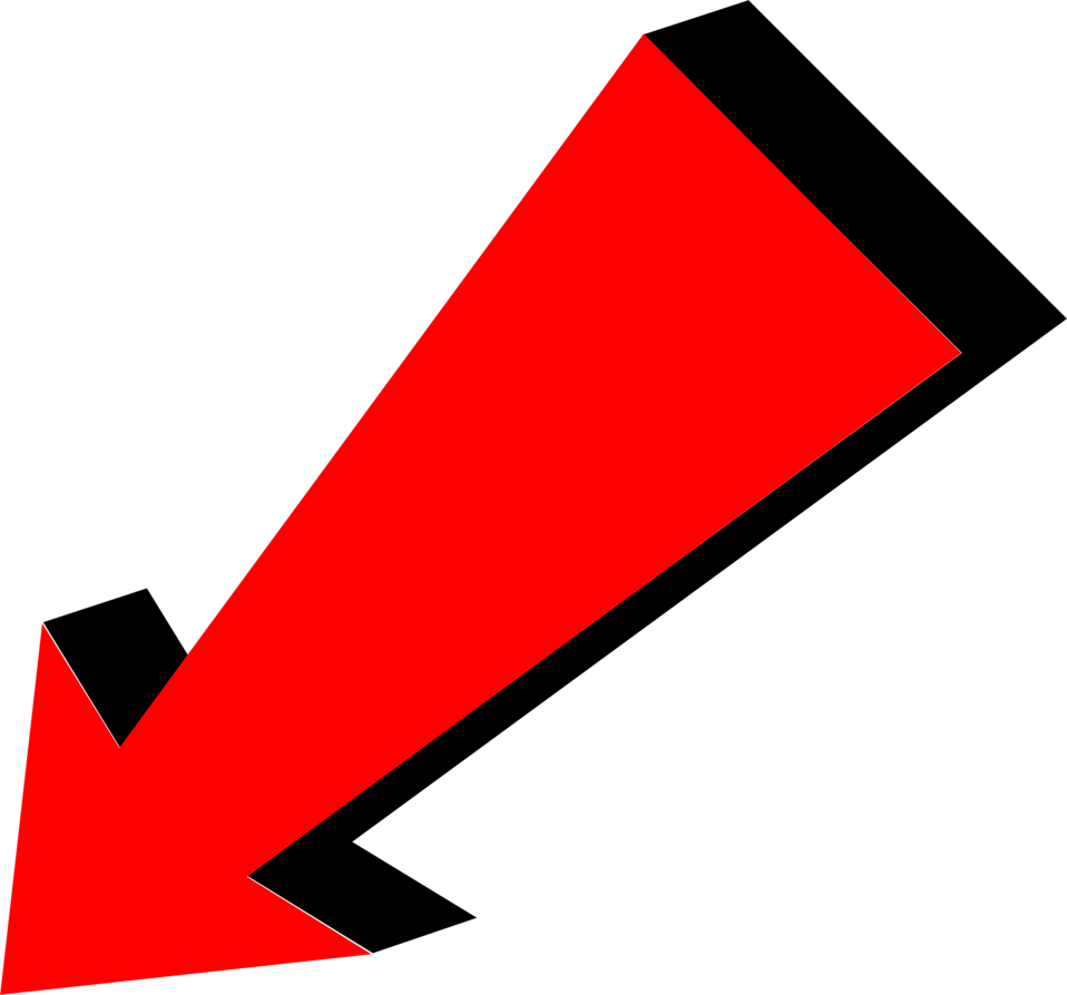 Arrow Red Pointing Bottom Lef