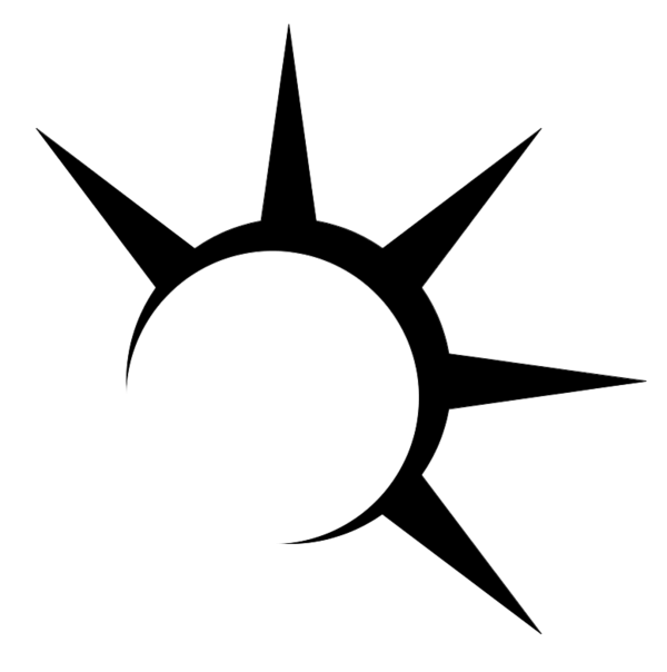Black Sun Logo by ztlawton PlusPng.com  - Art Of Sun Logo PNG