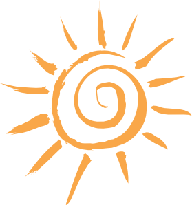 Simple Sun Motif Clip Art - Art Of Sun Logo PNG