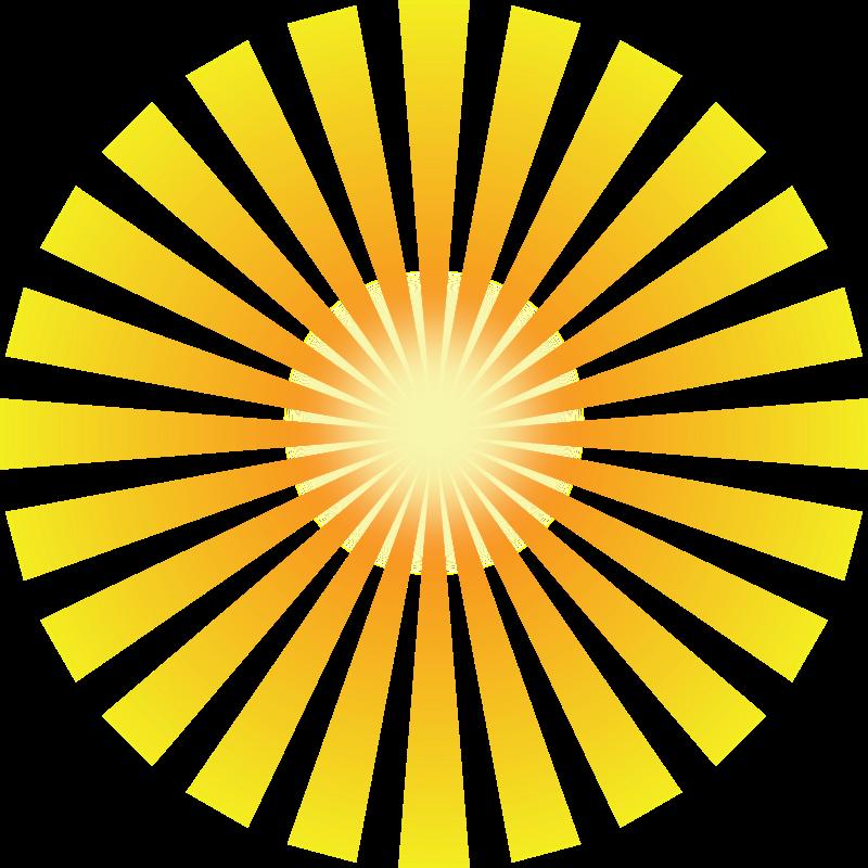 Bright Yellow Sun Clip Art - Art Of Sun PNG