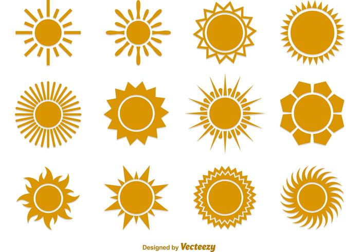 Summer Sun Vector Flat Icons - Art Of Sun Vector PNG