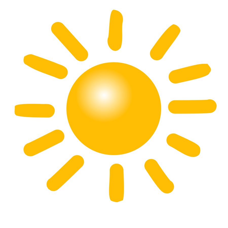 Weather Symbols: Sun SVG Vector file, vector clip art svg file - Art Of Sun Vector PNG