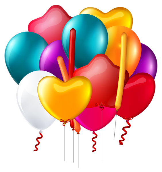 Balloons Bunch Transparent PNG Clip Art Image - Art PNG Transparent Background