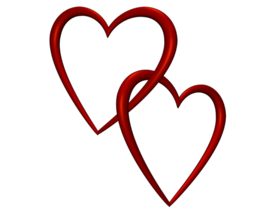 Entangled Red Love Hearts Transparent Background Valentine Clip Art WZYDoU  Clipart - Art PNG Transparent Background