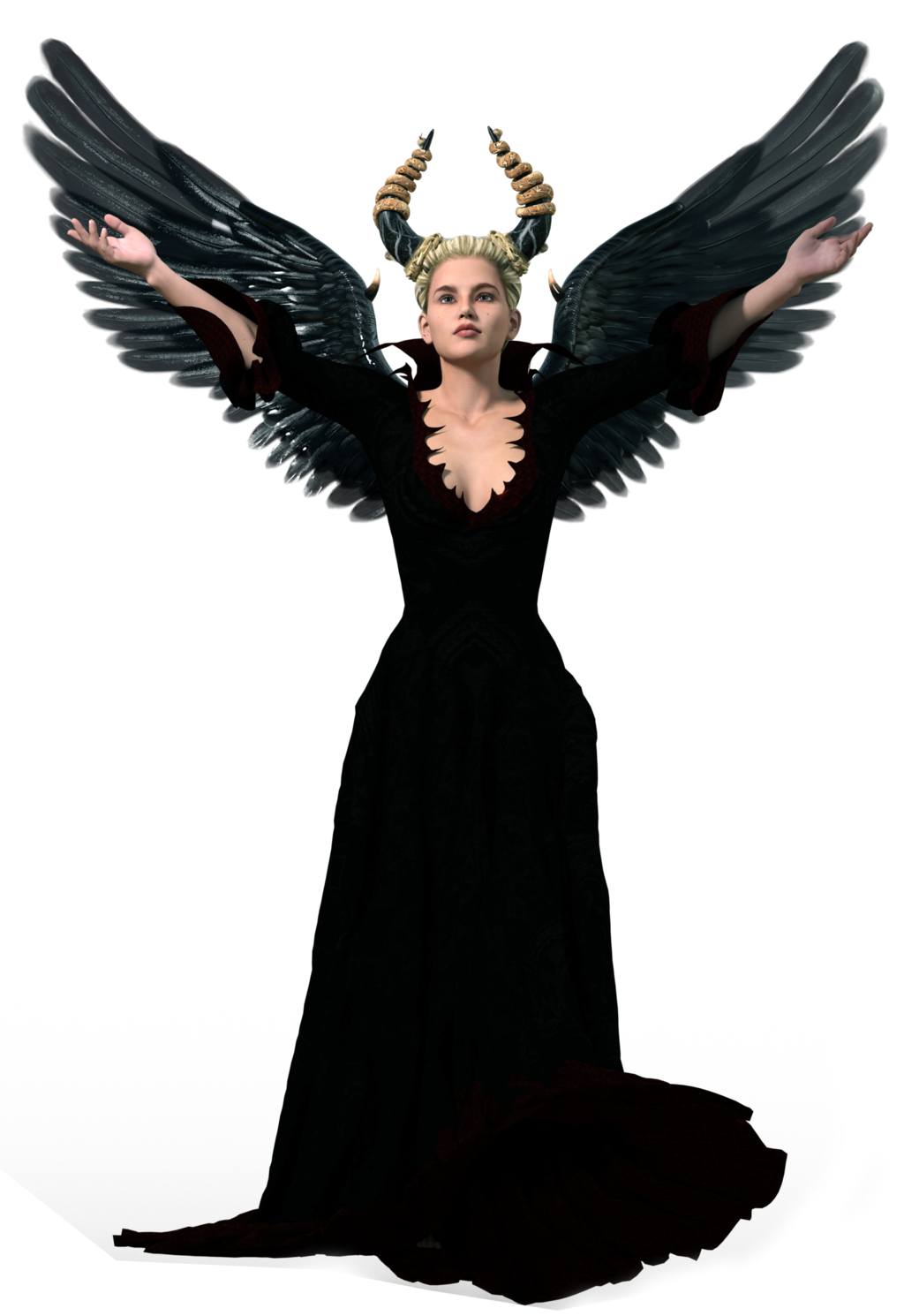. PlusPng.com ArtReferenceSource Stock: Dark Angel PNG by ArtReferenceSource - Dark Angel PNG
