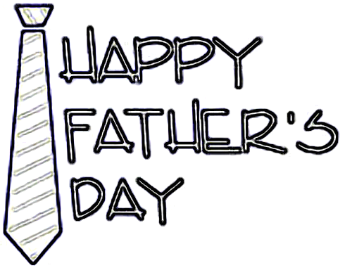 Happy fathers day craft pattern