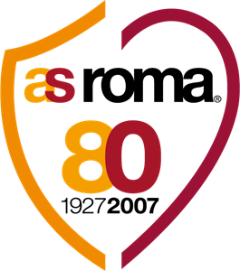 AS ROMA 80° anniversary Logo Vector - As Roma Club Logo Vector PNG