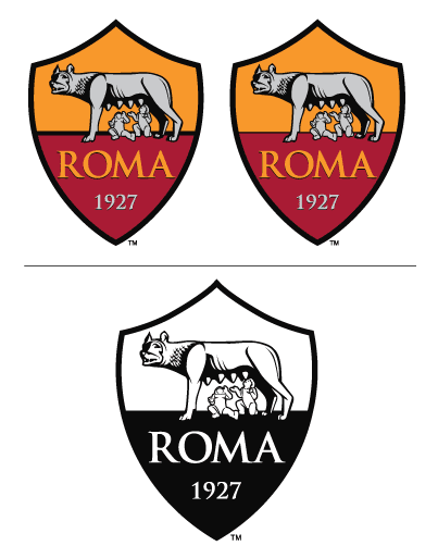 Italian Serie AS Roma vector, The additional black line in the middle  provides a stable base for La Lupa Capitolina and her twins. The classic  color palette PlusPng.com  - As Roma Club Logo Vector PNG