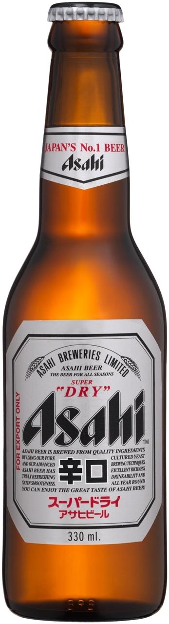 Asahi Super Dry 24 x 330ml Bottles - Asahi Breweries PNG
