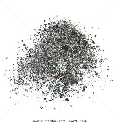 cigarette ash isolated on white background, texture #242912854 - Ashes PNG