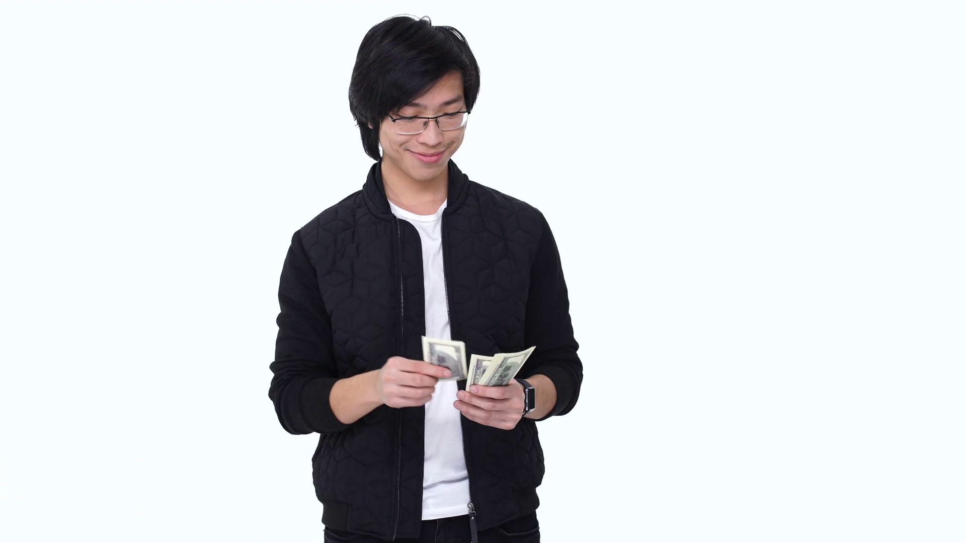 Happy Satisfied Casual Asian Man Counting Money Banknotes And Showing  Thumbs Up Gesture Isolated Over White Stock Video Footage - VideoBlocks - Asian Guy PNG
